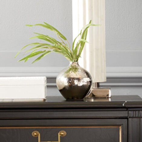 Nickel Hammered Bulb Vase ,  , hover_image