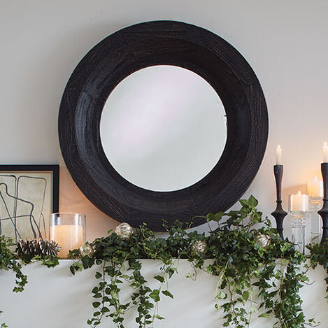 Antique Black Reclaimed Mirror Product Tile Hover Image 074423B