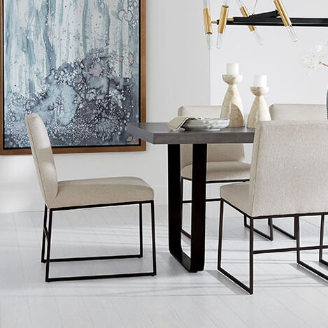 Jewel Metal Base Dining Chair Product Tile Hover Image 132514