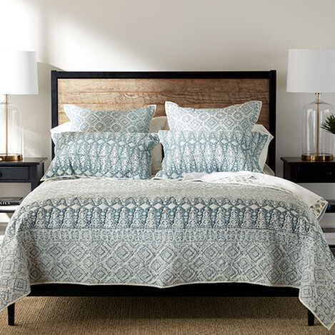 Syndi Block Print Quilt and Sham ,  , large