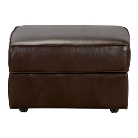 Retreat Leather Ottoman, Quick Ship ,  , large
