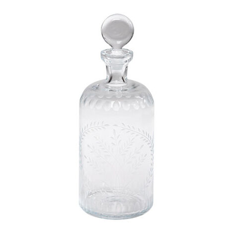 Laurel Etched Decanter ,  , large