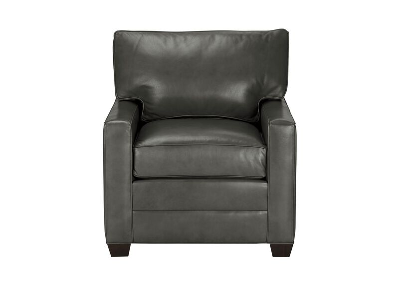 Bennett Track-Arm Leather Chair, Quick Ship