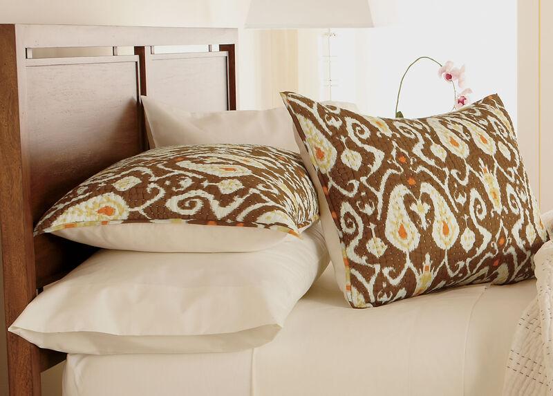 Trishna Brown Kantha Standard Sham ,  , large_gray