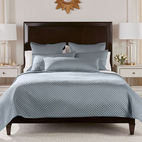 Salena Quilted Coverlet and Shams, Mist Blue Product Tile Image SalenaQuiltMistBlue