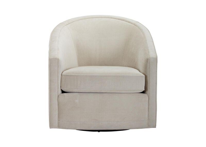 Baylee Barrel-Back Swivel Chair, Quick Ship