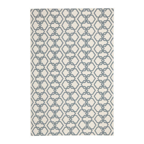 Interlock Rug, Ivory/Seafoam ,  , large