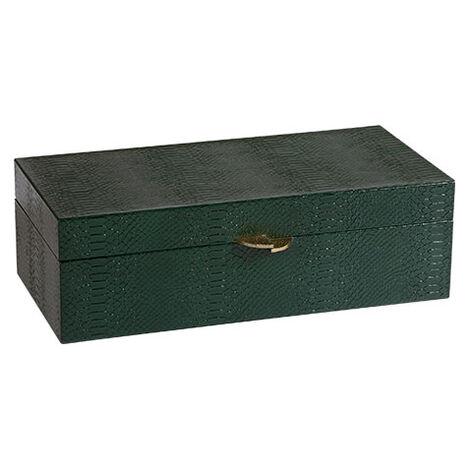 Emerald Snakeskin Box ,  , large