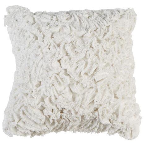 Ruffled Ivory Pillow ,  , large