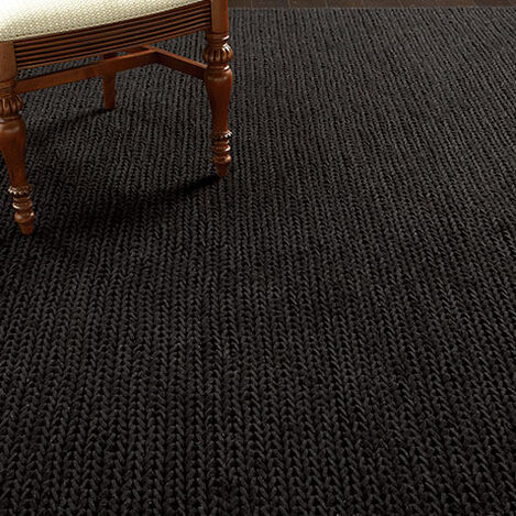 Braided Choti Rug, Black Product Tile Hover Image 041276T