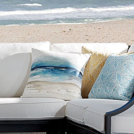 Blue Watercolor Outdoor Pillow Product Tile Hover Image 404704