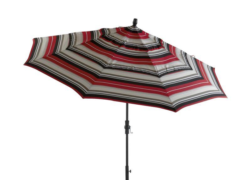 Crimson Stripe Round Market Umbrella ,  , large_gray