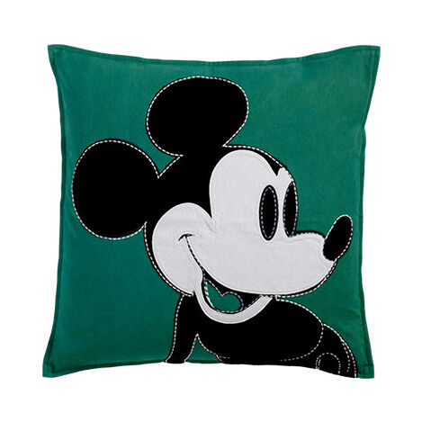 Color Block Mickey Mouse Pillow, Shamrock ,  , large