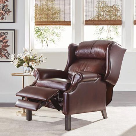 Townsend Leather Recliner, Old English/Chocolate Product Tile Hover Image 837948 L7176