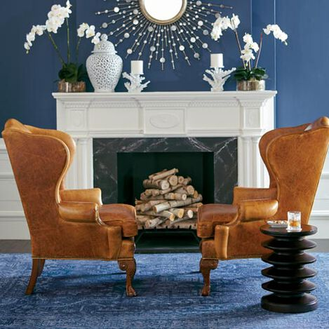 Giles Leather Chair Product Tile Hover Image 727625