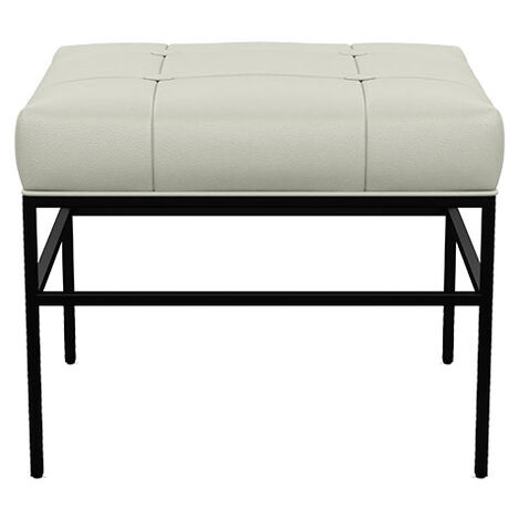 Ferri Upholstered Leather Pullup Metal Ottoman Product Tile Image 712522