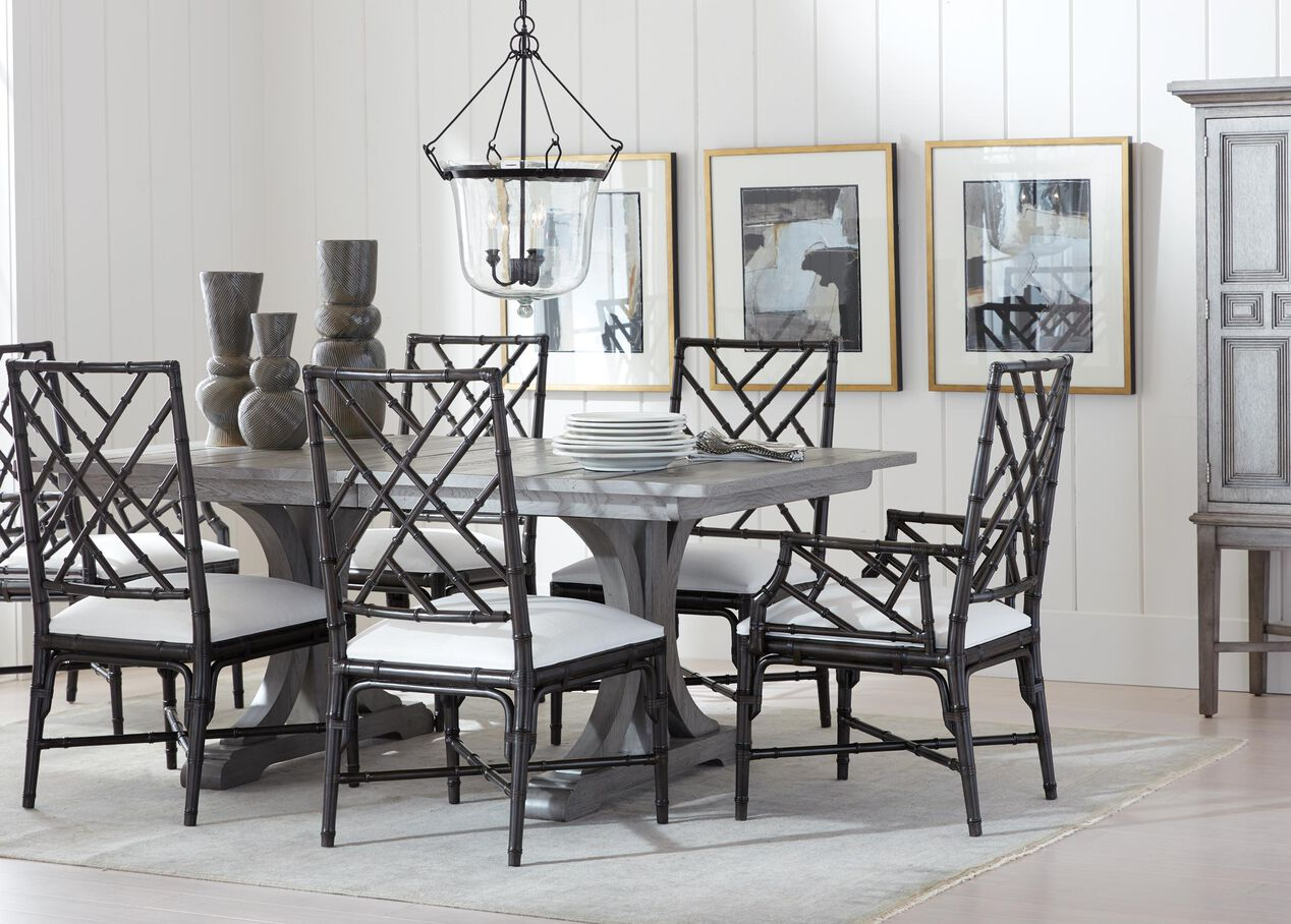 Corin Rough Sawn Trestle Extension Dining Table Alt
