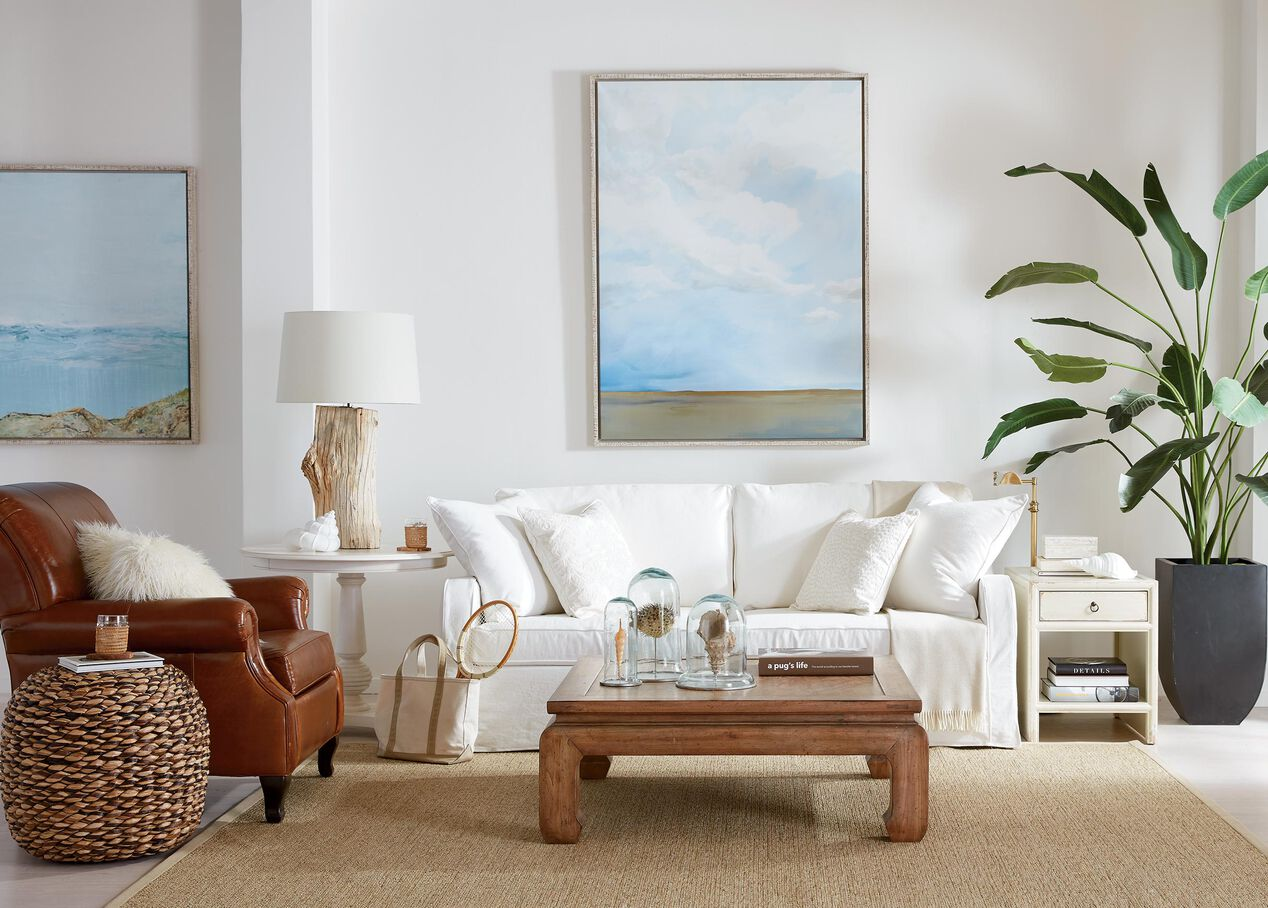 Dylan Slipcovered Sofa Sofas Loveseats ~ Turquoise Slipcover Sofa