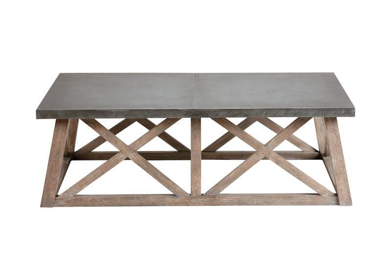 Bruckner Metal-Top  Coffee Table ,  , large_gray