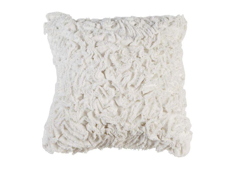 Ruffled Ivory Pillow ,  , large_gray