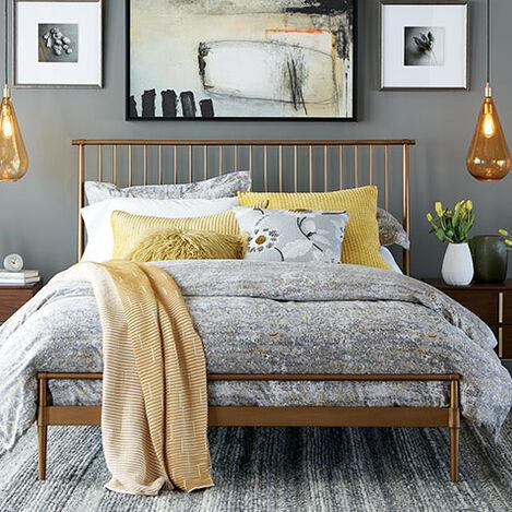 Emmett Metal Platform Bed Product Tile Hover Image 145640