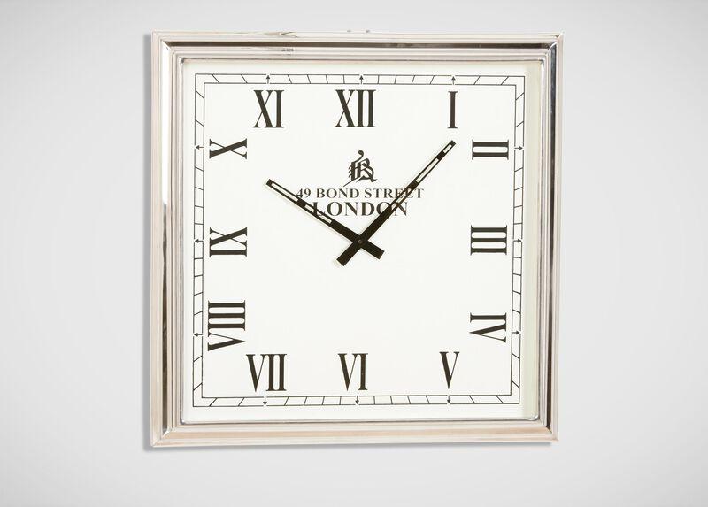 Nickel Square Wall Clock ,  , large_gray
