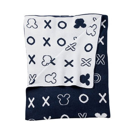Mickey Mouse Hugs and Kisses Knit Stroller Blanket, Midnight ,  , large