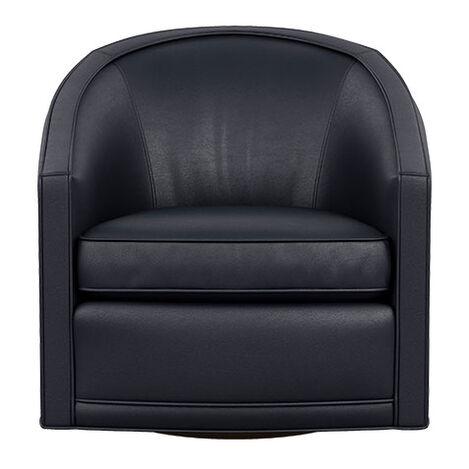 Baylee Leather Barrel-Back Swivel Chair Product Tile Image 722519