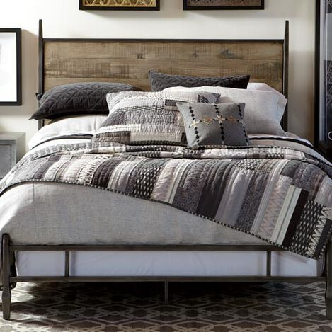 Stillwell Herringbone Duvet Cover and Kennan Quilt ,  , large