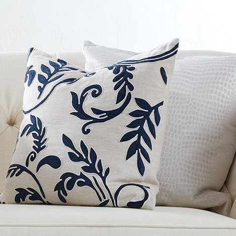 Embroidered Linen Pillow Product Tile Hover Image Embroideredpillow