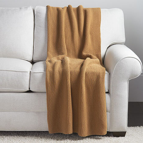 Moss Stitch Knit Throw Product Tile Image mossstitchthrow