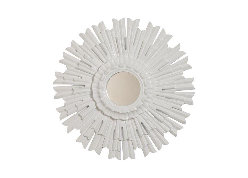 "20"" White Sunburst Mirror ,  , large_gray"