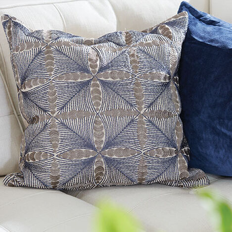 Embroidered Diamond Pillow Product Tile Hover Image 065637