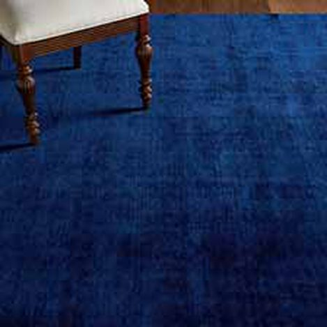 Loomed Wool Rug, Navy ,  , hover_image