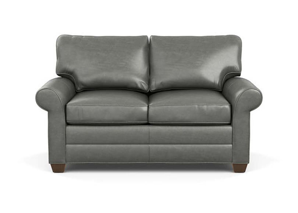 Bennett Roll Arm Leather Sofa Quick Ship Sofas Loveseats ~ Rolled Arm Leather Sofa