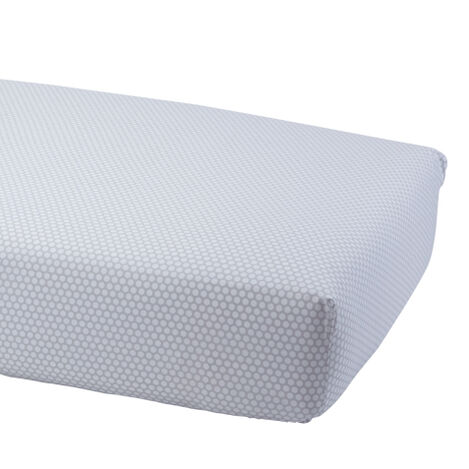 Dotty Crib Sheet, Mouse Grey Product Tile Image 0352062  MGR