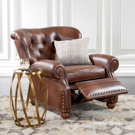 Cromwell Leather Recliner, Omni/Tobacco Product Tile Hover Image 837949 L7876