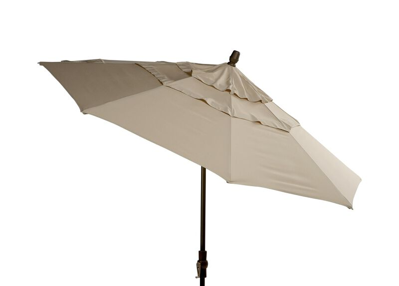 Khaki Round Market Umbrella ,  , large_gray
