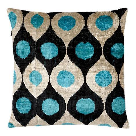 Silk Velvet Pillow, Turquoise ,  , large