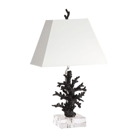 Black Gloss Coral Accent Lamp ,  , large