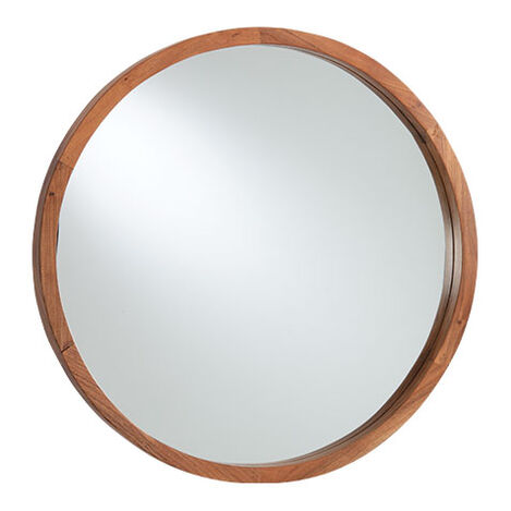 Hudson Round Wooden Wall Mirror Product Tile Image 074122