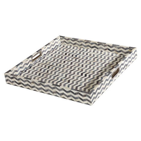"Chevron 24"" Square Bone Tray Product Tile Image 431713"