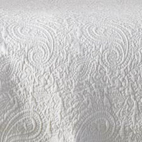White Paisley Matelassé Coverlet and Shams ,  , hover_image