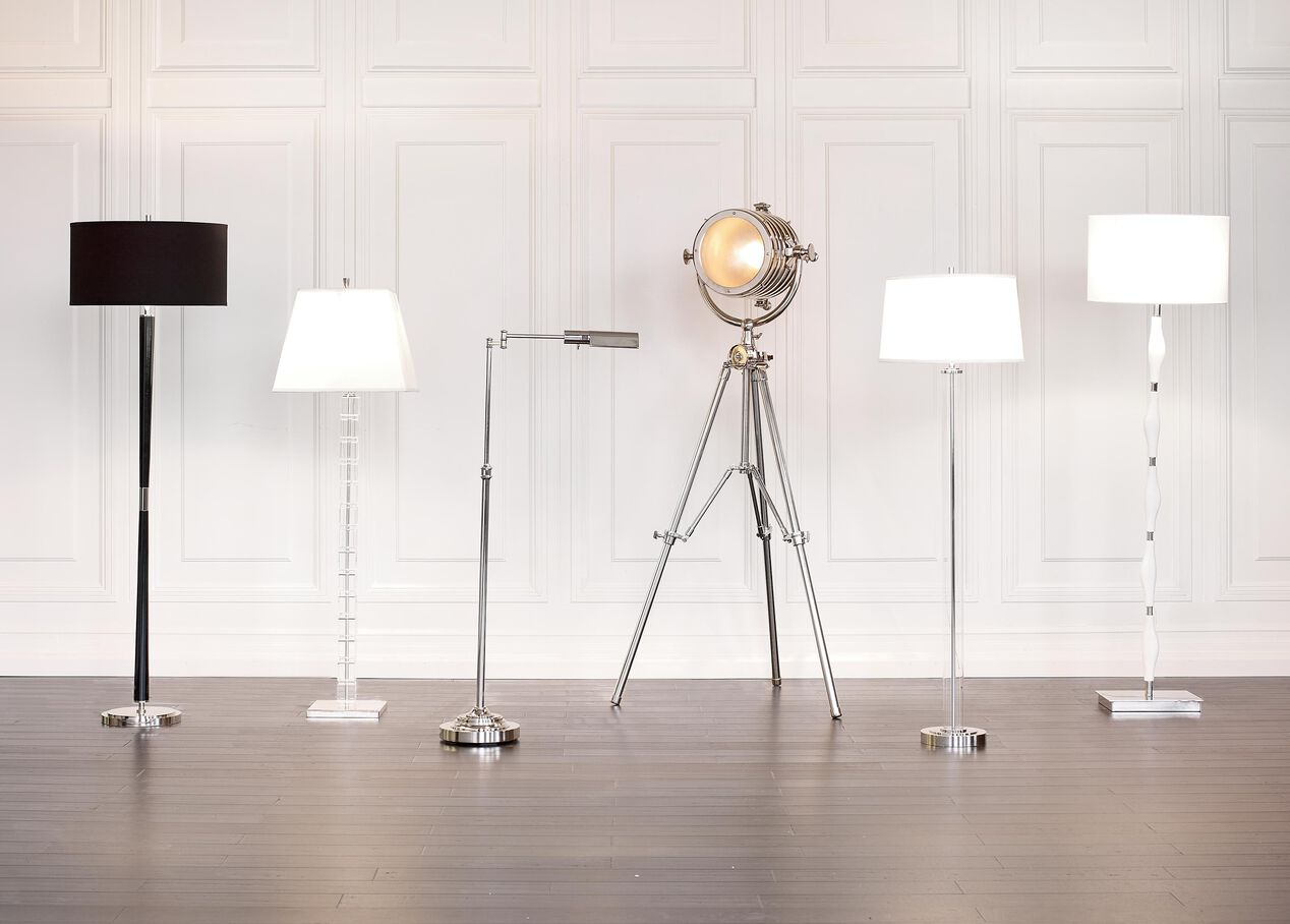 Glass cylinder floor lamp floor lamps ethan allen null mozeypictures Choice Image