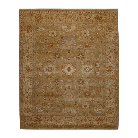 Oushak Rug, Light Gold/Ivory ,  , large