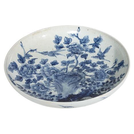 Yuan Floral Low Bowl ,  , large