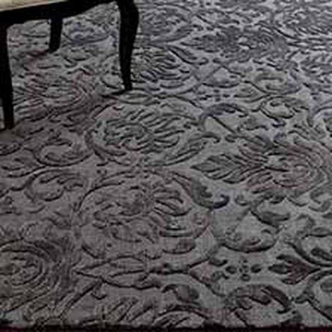 Jacquard Damask Rug, Charcoal ,  , hover_image