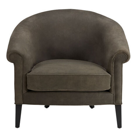 Clyde Leather Barrel Chair Product Tile Image 722265
