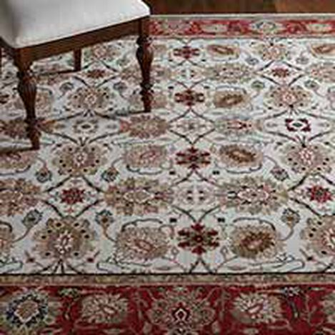 Sultanabad Area Rug, Ivory/Red ,  , hover_image