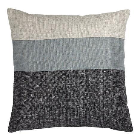 Slate/Multi Color Block Pillow ,  , large